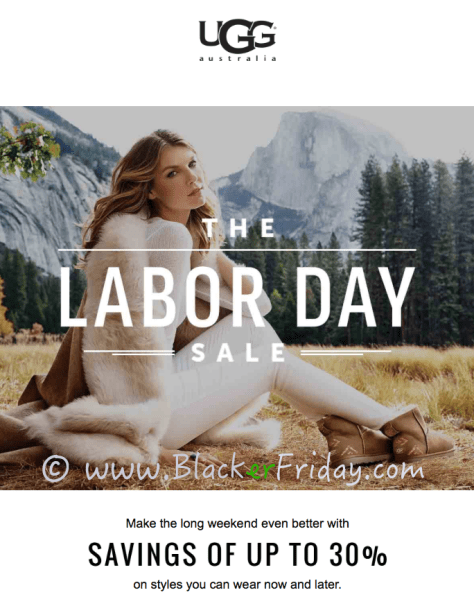 ugg labor day sale ad scan