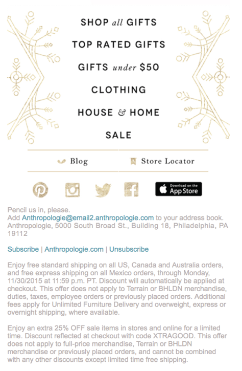 Anthropologie Cyber Monday 2015 Ad - Page 2