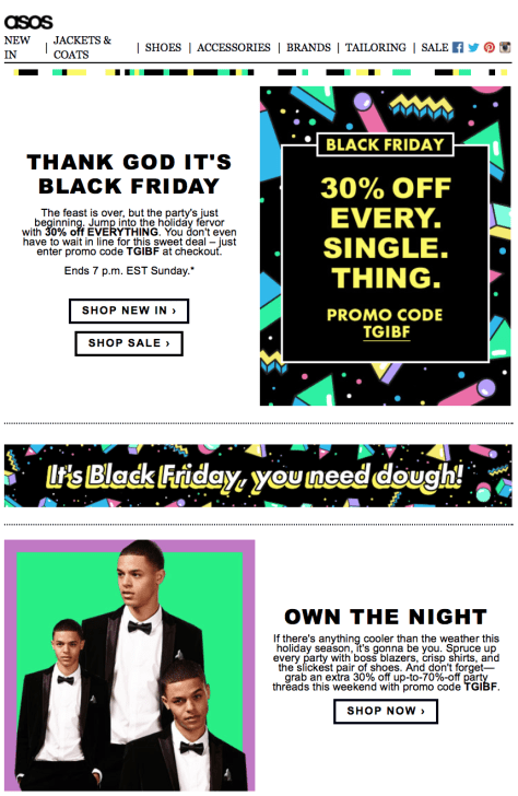 Asos Black Friday Ad Scan