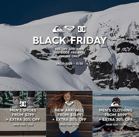 DC Shoes Black Friday 2015 Ad - Page 1