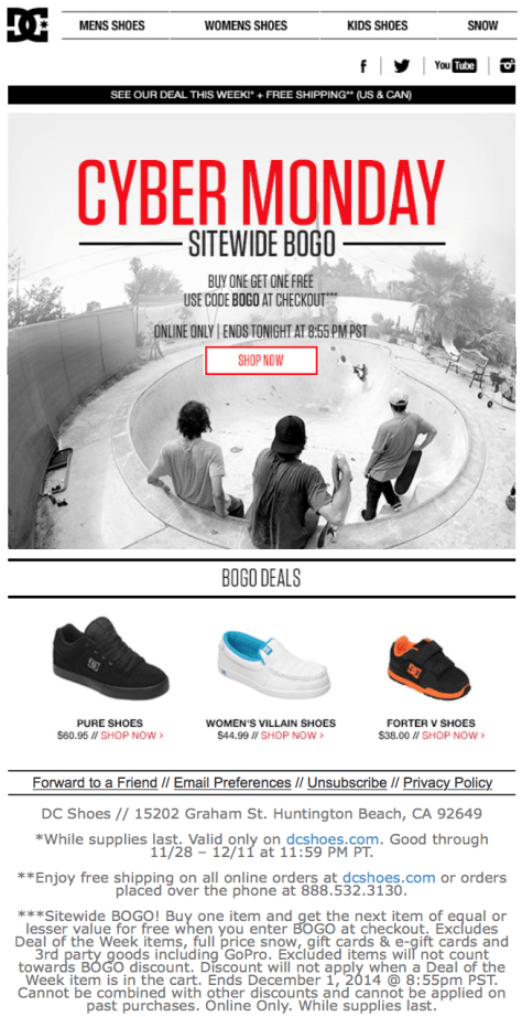 DC Shoes Cyber Monday Ad - Page 1