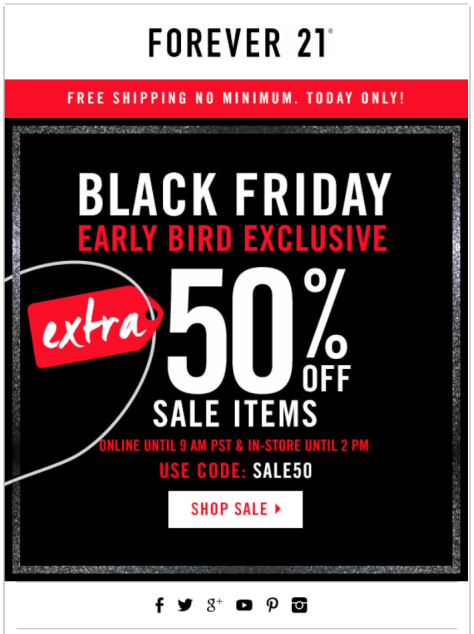 Forever 21 Black Friday Ad - Page 1