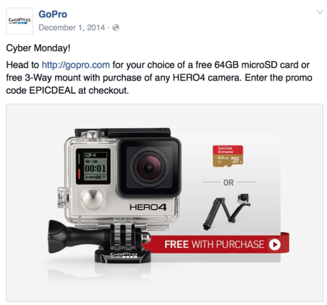 GoPro Cyber Monday Ad