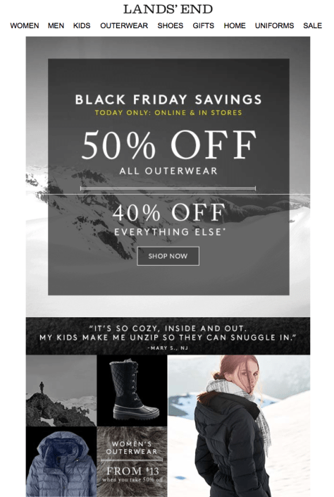 Lands End Black Friday 2015 Ad - Page 1
