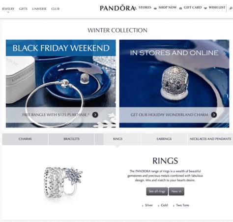Pandora Cyber Monday 2015 Ad - Page 1