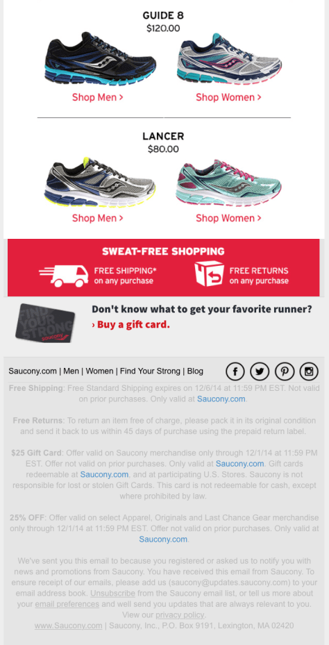 Saucony Cyber Monday Ad - Page 2