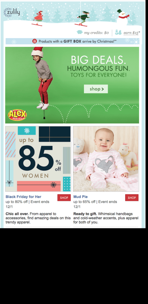 Zulily Black Friday Ad - Page 1