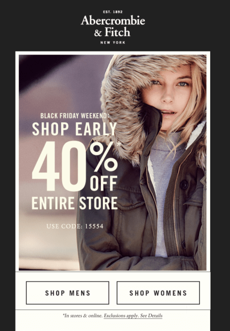 Abercrombie and Fitch Black Friday 2015 Ad - Page 1