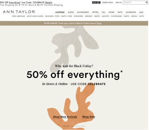 Ann Taylor Black Friday 2015 Flyer - Page 1
