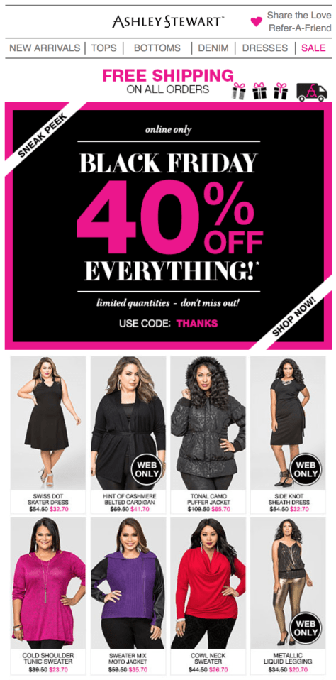 Ashley Stewart Black Friday 2015 Flyer - Page 1