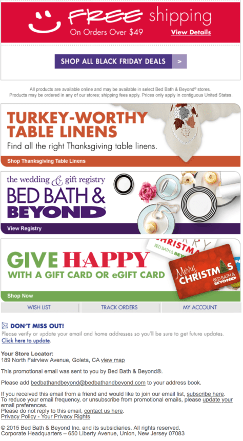Bed Bath Beyond Black Friday 2015 Ad - Page 3
