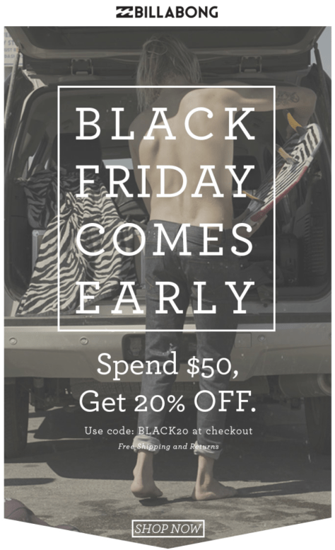 Billabong Black Friday Ad - Page 1