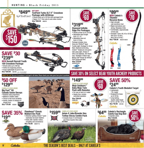 Cabelas Black Friday 2015 Ad - Page 14