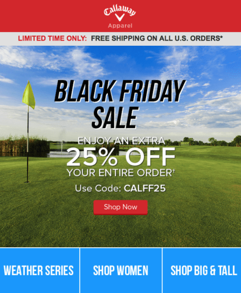 Callaway Black Friday Ad - Page 1