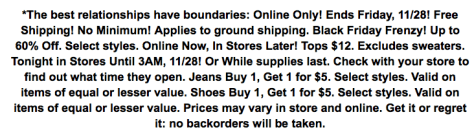 Charlotte Russe Black Friday Ad - Page 2