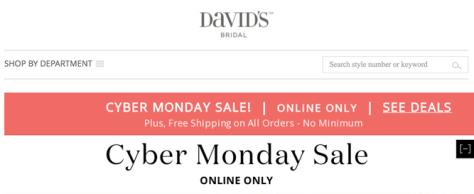 Davids Bridal Cyber Monday 2015 Ad - Page 1