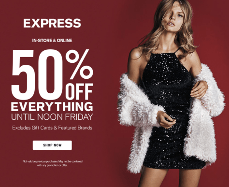 Express Black Friday 2015 Flyer - Page 1