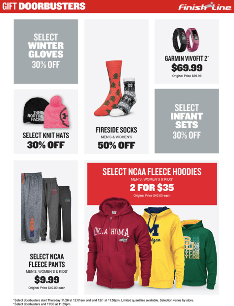 Finish Line Cyber Monday 2015 Ad - Page 4