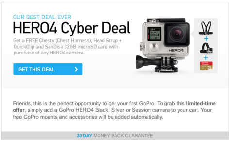 GoPro Cyber Monday 2015 Flyer - Page 1