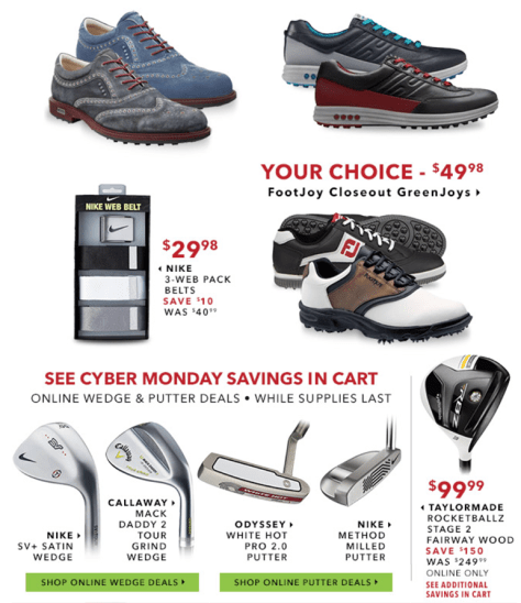 Golfsmith Cyber Monday 2015 Ad - Page 5