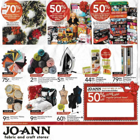 Jo Ann Fabrics Black Friday 2015 Ad - Page 8