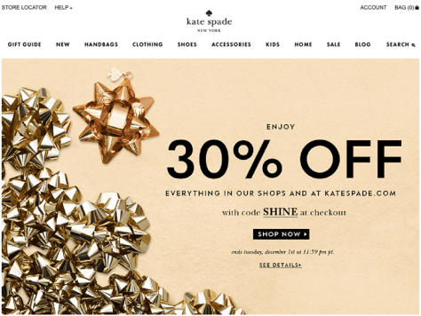 Kate Spade Cyber Monday 2015 Ad - Page 1