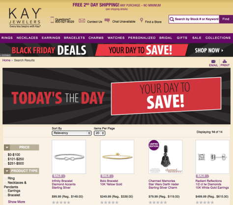 Kay Black Friday 2015 Ad - Page 1