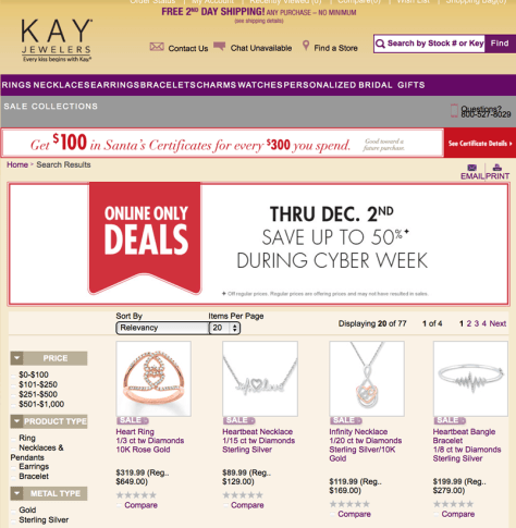 Kay Cyber Monday 2015 Ad - Page 1