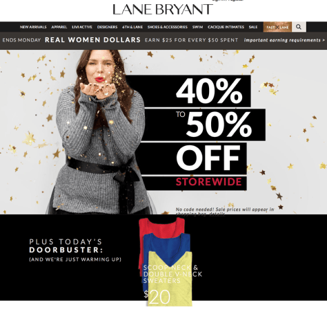 Lane Bryant Black Friday 2015 Ad - Page 1