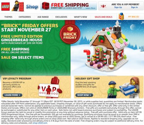Lego Black Friday 2015 Flyer - Page 1