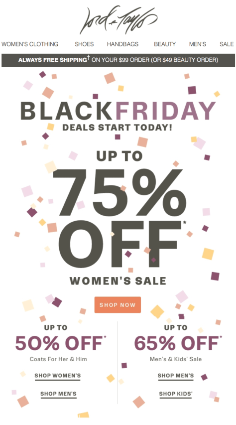 Lord and Taylor Black Friday 2015 Flyer - Page 1