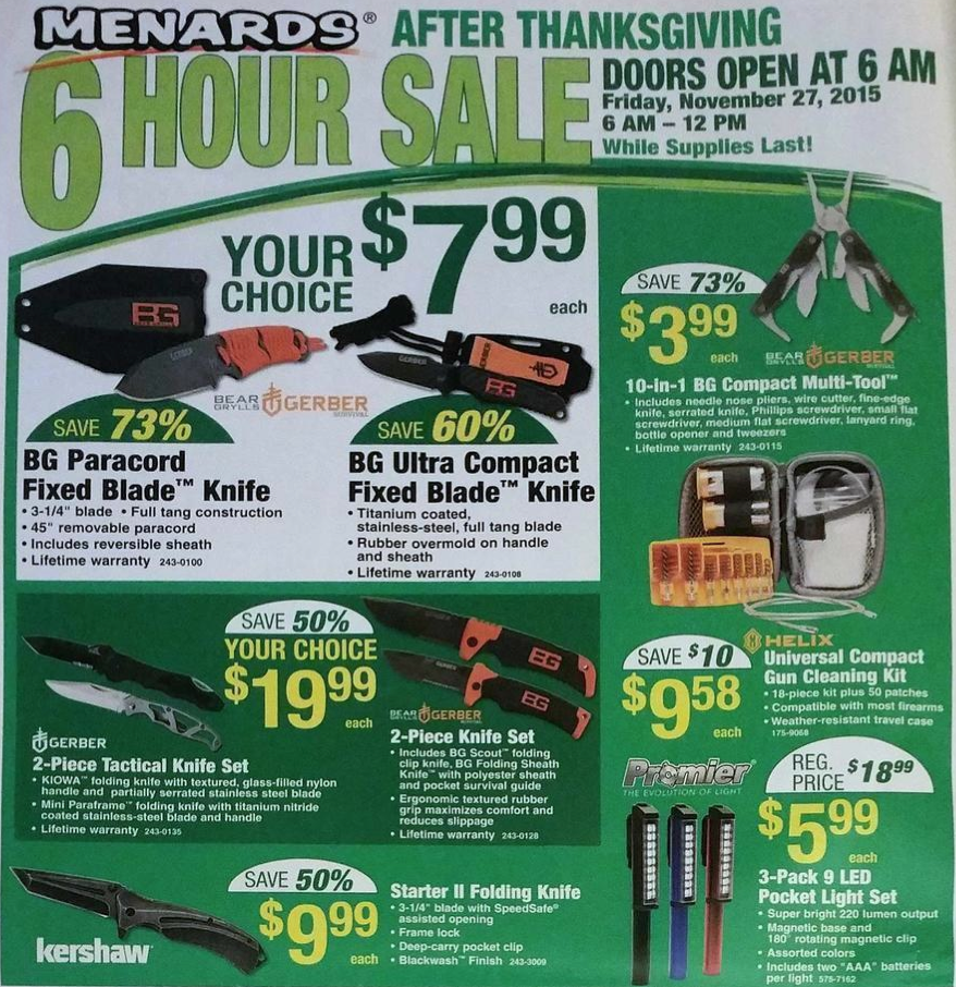 Menards will honor the rebate if you go back during the sale and ask for the 11% Price Adjustment Rebate form (not to be confused with the 11% Rebate Form!). Or you can live dangerously and go to this site, where people post scans of the form.