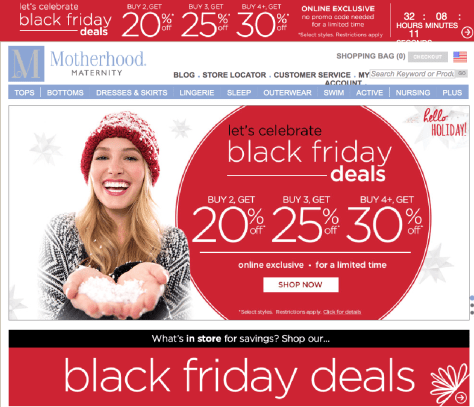 Motherhood Maternity Black Friday 2015 Flyer - Page 1