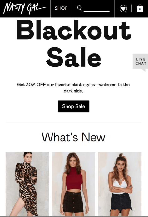 Nasty Gal Black Friday 2015 Flyer - Page 1