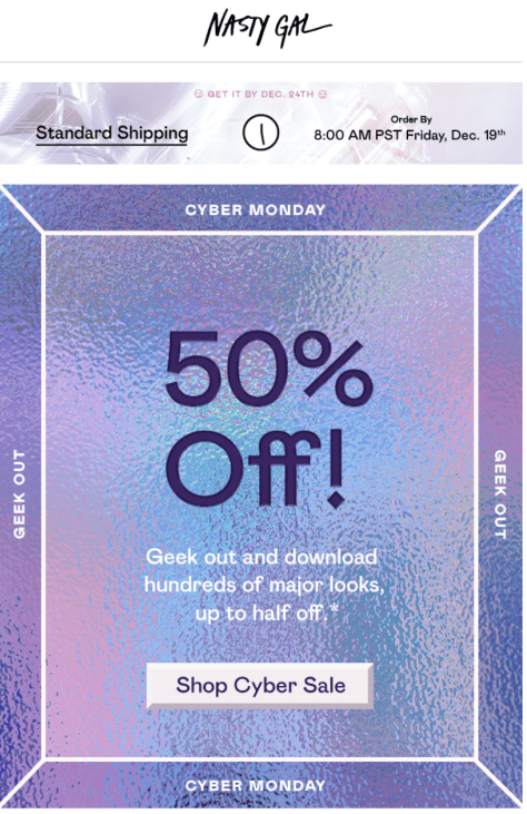 Nasty Gal Cyber Monday Ad - Page 1