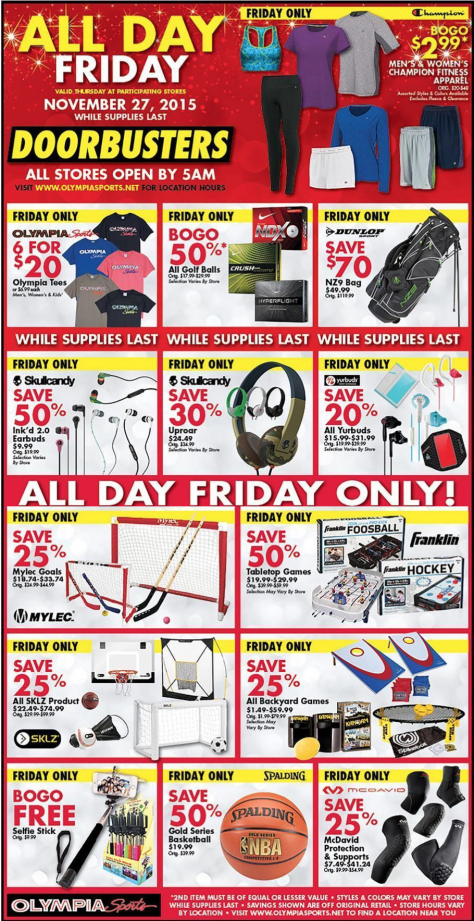 Olympia Sports Black Friday 2015 Ad - Page 3