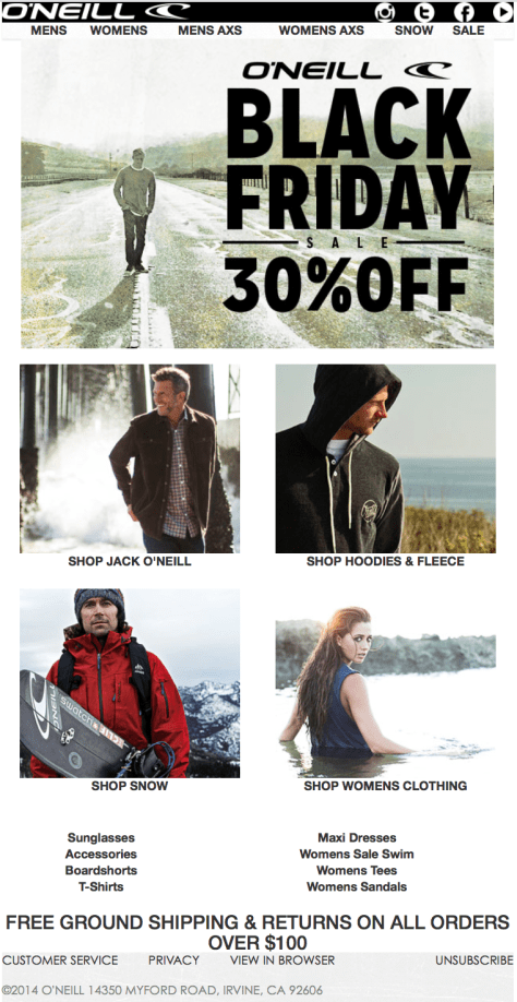 Oneill Black Friday 2015 Ad - Page 1