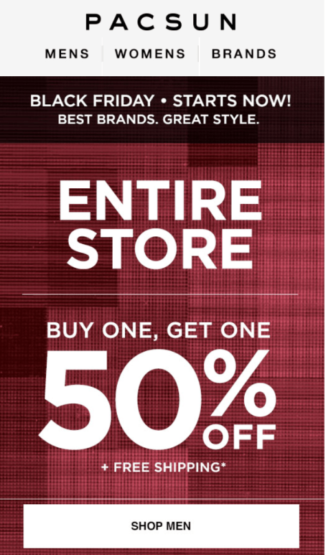 PacSun Black Friday 2015 Flyer - Page 1