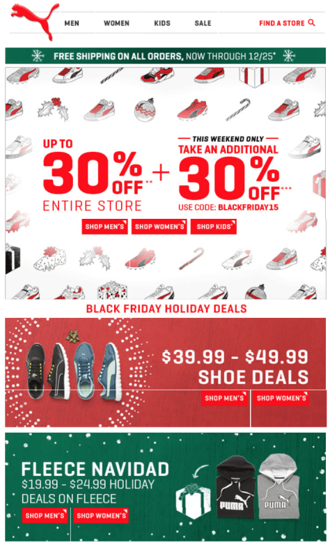 Puma Black Friday 2015 Flyer - Page 1
