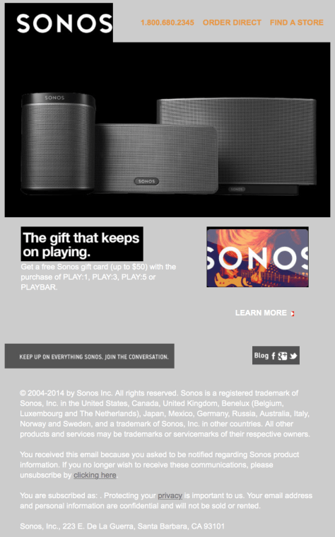 Sonos Black Friday Ad - Page 1