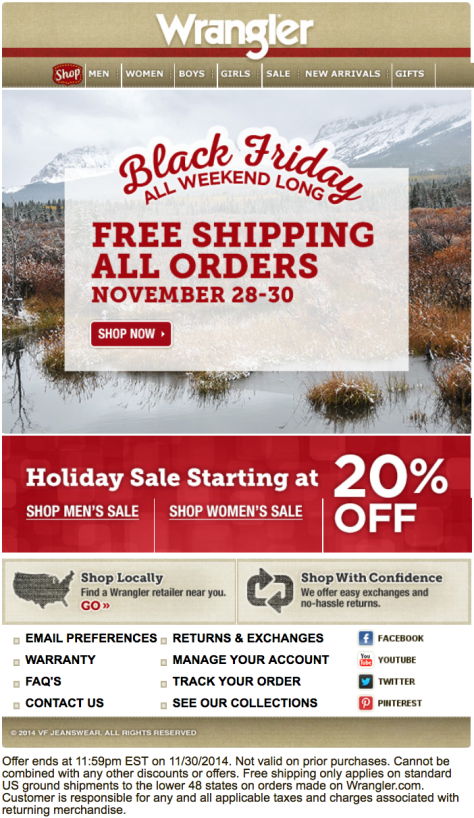 Wrangler Black Friday Ad - Page 1