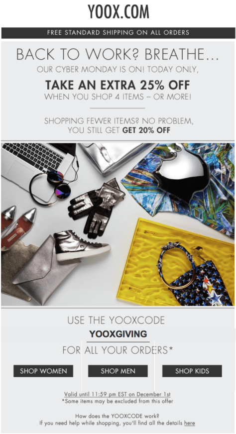 Yoox Cyber Monday Ad - Page 1