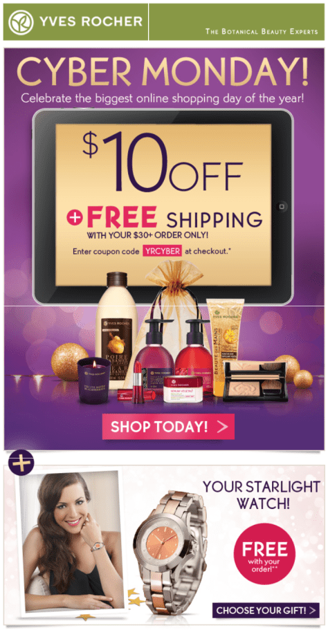 Yves Rocher Cyber Monday Ad - Page 1