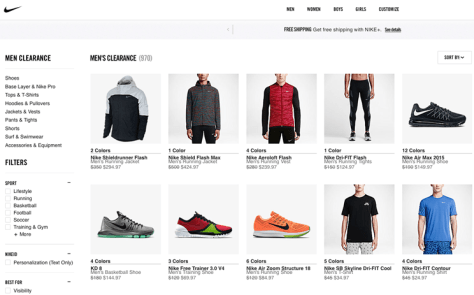 Nike After Christmas Sale 2015 - Page 1
