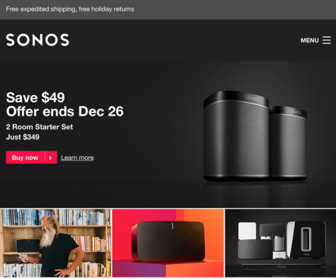 Sonos Black Friday Sale 2016