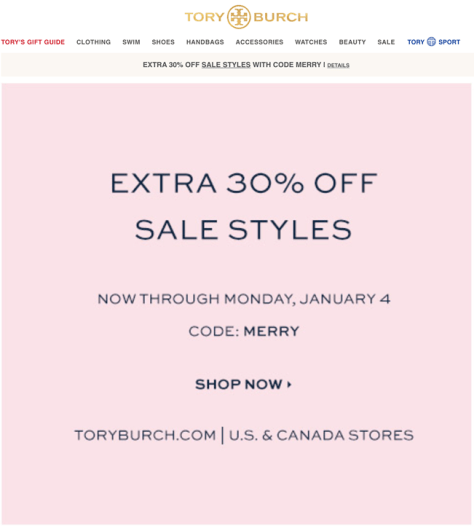 Tory Burch After Christmas Sale 2015 - Page 1
