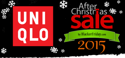 UNIQLO After Christmas Sale 2015