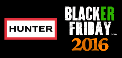 Hunter Boots Black Friday 2016