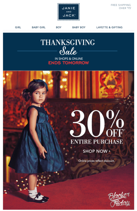 Janie and Jack Black Friday Sale - Page 1