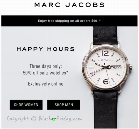 Marc Jacobs Cyber Monday Ad Scan - Page 1